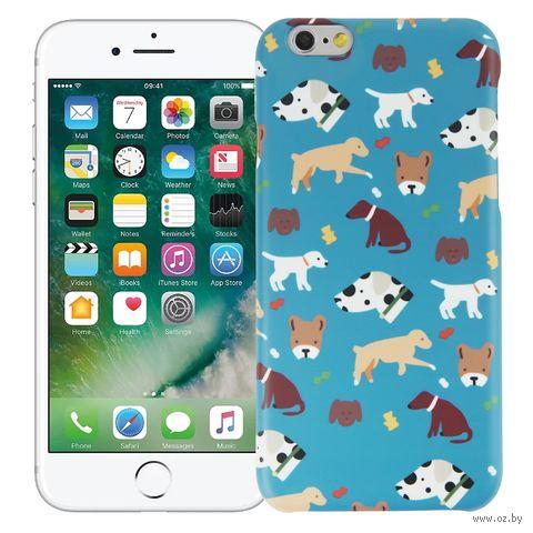 "Чехол для iPhone 6 ""Собачки"" (голубой) — фото, картинка"