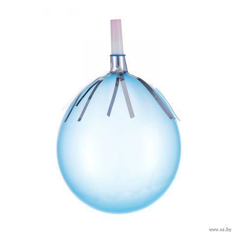 Набор карнавальных свистков с мишурой и воздушными шарами (6 шт.) — фото, картинка