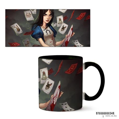 """Кружка """"Алиса"""" (черная; арт. 349) — фото, картинка"""
