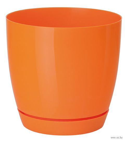 """Цветочный горшок """"Тоскана"""" (11 см; оранжевый) — фото, картинка"""