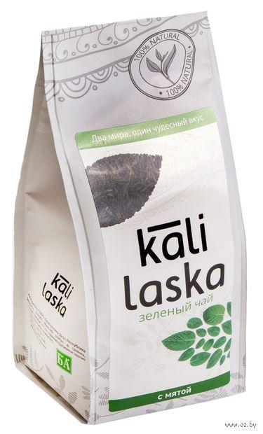 """Чай зеленый листовой """"Kali Laska. С мятой"""" (100 г) — фото, картинка"""