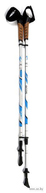 Палки для скандинавской ходьбы двухсекционные AQD-B004-6061 (85-135 см; белые) — фото, картинка