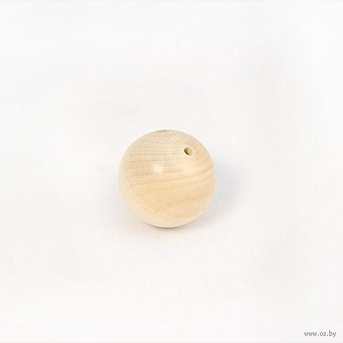 """Заготовка деревянная из липы """"Бусина круглая"""" (25 мм) — фото, картинка"""