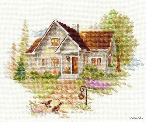 """Вышивка крестом """"Июльский домик"""" (180х140 мм) — фото, картинка"""