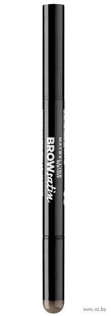 "Тени-карандаш для бровей ""Brow Satin"" (тон: 04, темно-коричневый)"