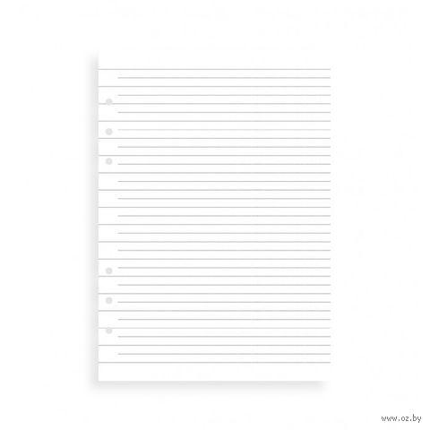 "Комплект бланков Filofax ""Бумага в линейку"" (A5, white, 25 листов)"