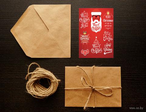 "Открытка ""Merry Christmas"" (арт. 5)"