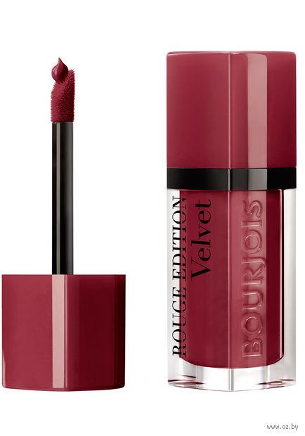"Помада-флюид для губ ""Rouge edition velvet"" (тон: 24, черешня) — фото, картинка"