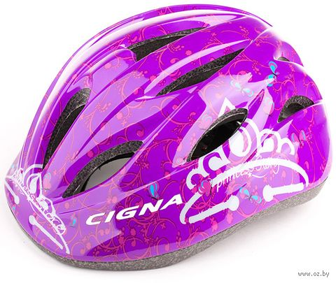 """Шлем велосипедный детский """"WT-021"""" (чёрно-фиолетовый) — фото, картинка"""