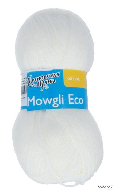 """Пряжа """"Семеновская. Mowgli Eco №179"""" (50 г; 200 м; белый) — фото, картинка"""
