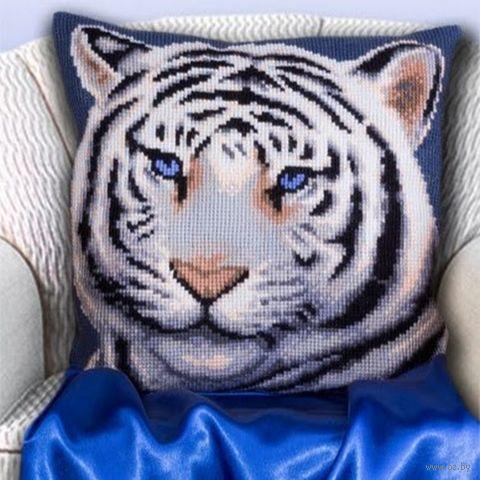 """Вышивка крестом """"Бенгальский тигр"""" (400х400 мм) — фото, картинка"""
