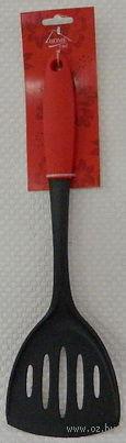 Лопатка кухонная пластмассовая с прорезями термостойкая (34,5 см, арт. KL31A10-A16)