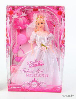 """Кукла """"Koler. Fashion Girl"""" (в белом платье)"""