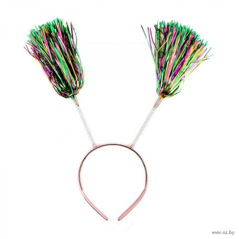 Обруч карнавальный с мишурой на пружинках