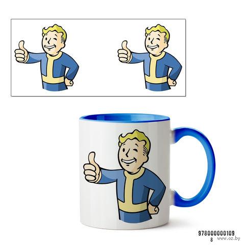 "Кружка ""Пип-бой из Fallout"" (голубая; арт. 109) — фото, картинка"