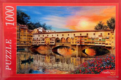 """Пазл """"Флоренция. Мост Понте Веккью"""" (1000 элементов) — фото, картинка"""