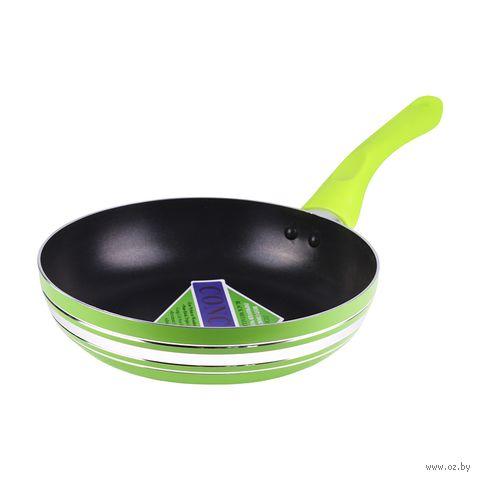 Сковорода алюминиевая, 20 см (зеленая) — фото, картинка