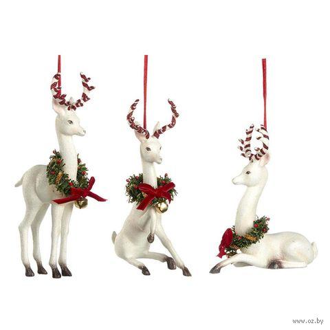 """Ёлочная игрушка """"Рождественский олень с венком"""" — фото, картинка"""