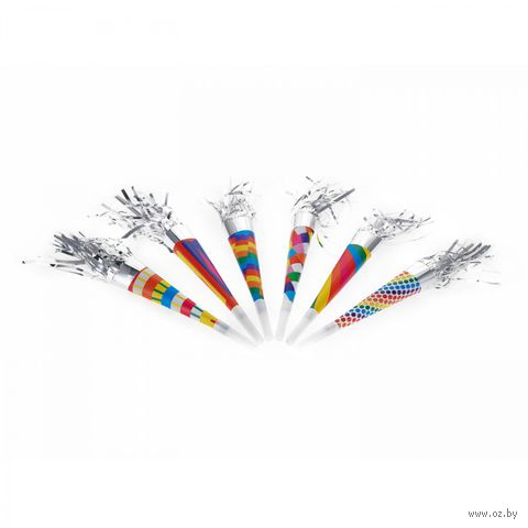 Набор карнавальных дудок с мишурой (6 шт.) — фото, картинка