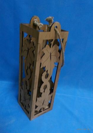 """Подарочная коробка для вина """"Листья"""" (арт. МВ00002.1) — фото, картинка"""