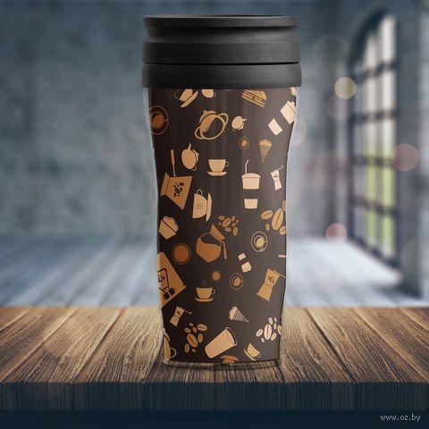 "Термостакан ""Кофейный мир"" — фото, картинка"