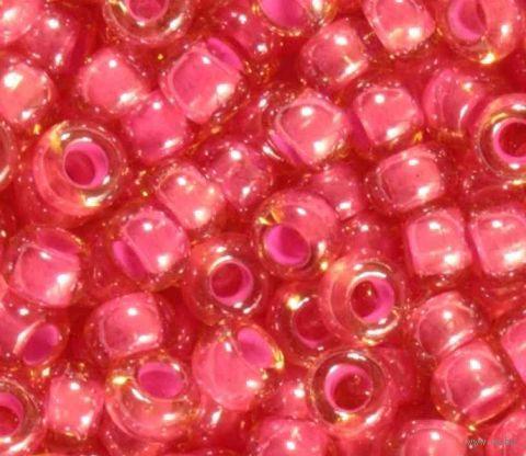 Бисер прозрачный с цветным центром №11028 (розовый; 10/0) — фото, картинка