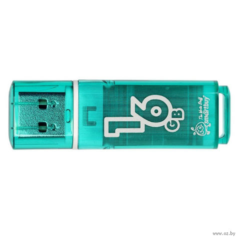 USB Flash Drive 16Gb SmartBuy Glossy series (Green)
