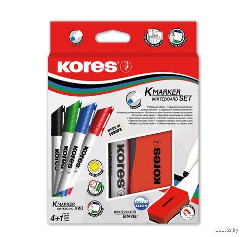 Набор маркеров для доски с губкой (1 мм; 4 цвета)