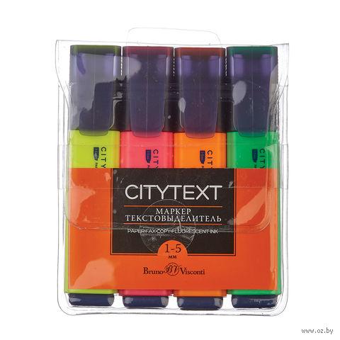 """Набор маркеров текстовых """"CityText"""" (4 цвета) — фото, картинка"""