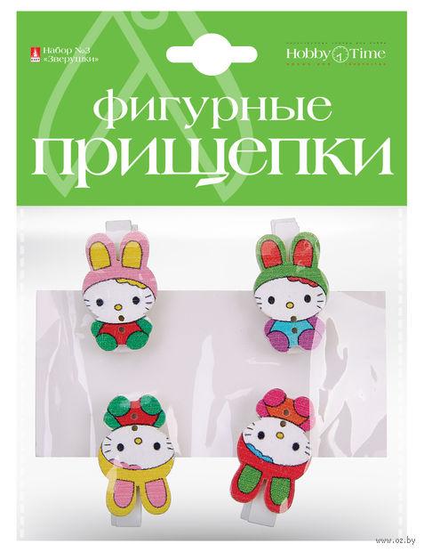 """Набор прищепок декоративных """"Зверушки"""" (в ассортименте) — фото, картинка"""