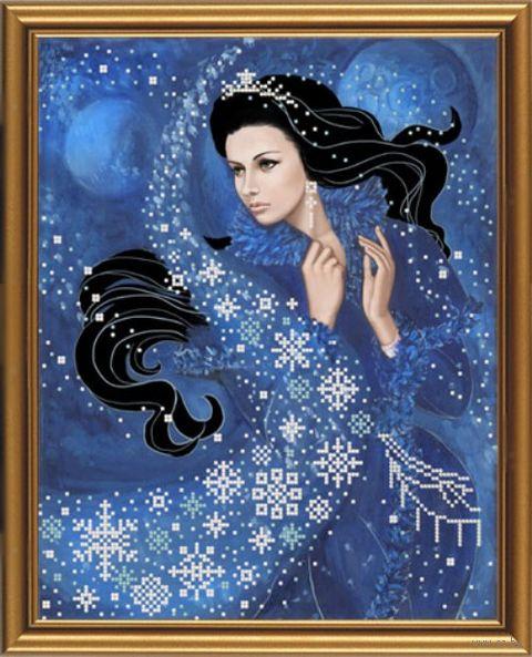 """Вышивка бисером """"Зимняя ночь"""" (260х330 мм) — фото, картинка"""