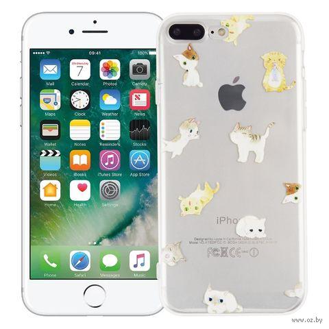 "Чехол для iPhone 7/8 Plus ""Веселые котята"" (прозрачный) — фото, картинка"