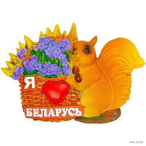 """Магнит на холодильник """"Белочка"""" (арт. 018) — фото, картинка"""