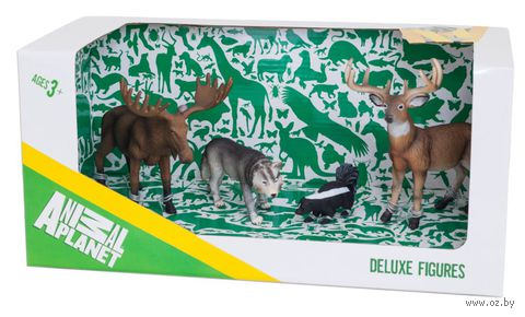 """Набор фигурок """"Animal Planet: Лесные животные"""" (4 шт.)"""