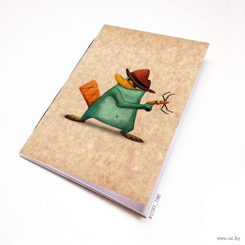 """Блокнот крафт """"Финес и Ферб. Перри"""" (А7; арт. 960) — фото, картинка"""