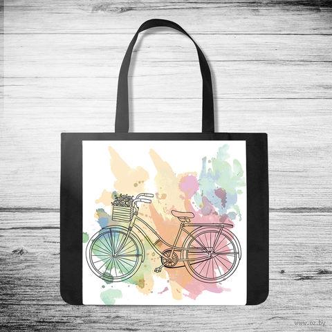 """Сумка-шоппер """"Велосипед"""" (арт. 43) — фото, картинка"""