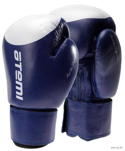 Перчатки боксёрские LTB19009 (12 унций; сине-белые/мишень) — фото, картинка