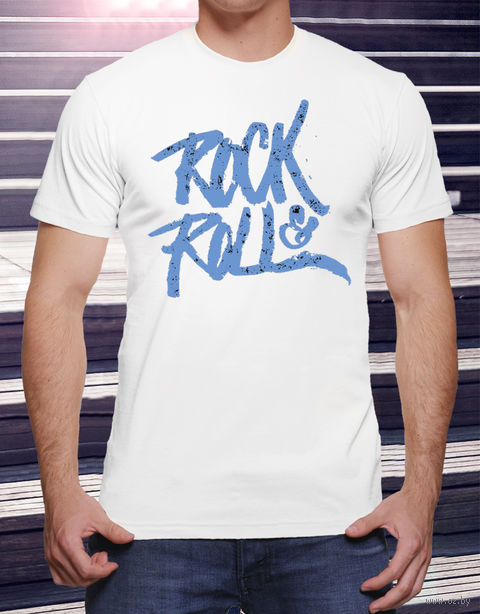 "Футболка мужская ""Rock and Roll"" (размер 56; art. 19)"