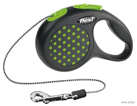 """Поводок-рулетка для собак """"Design"""" (размер XS; до 8 кг; зеленый)"""