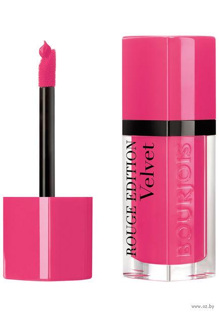 """Помада-флюид для губ """"Rouge Edition Velvet"""" тон: 34, неоново-розовый — фото, картинка"""