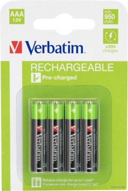 Аккумулятор NiMH Verbatim ААА 950 мАч (4 шт.; арт. 49942) — фото, картинка