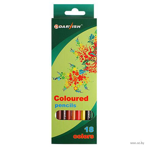 """Цветные карандаши """"Darvish"""" пластиковый корпус (18 цветов; арт. DV-119-18)"""
