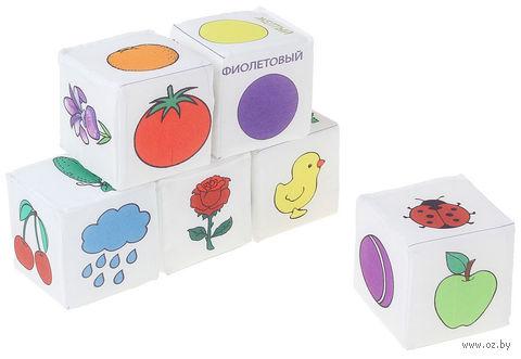 """Кубики """"Цвета"""" (6 шт) — фото, картинка"""