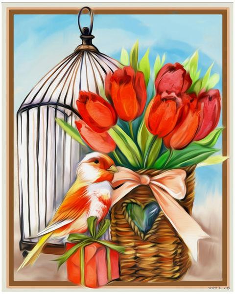 """Алмазная вышивка-мозаика """"Подарок весны"""" (300х240 мм) — фото, картинка"""