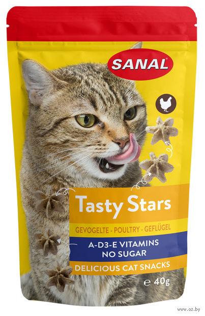 """Лакомство для кошек """"Tasty Stars Poultry"""" (40 г; птица) — фото, картинка"""