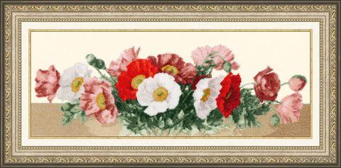 "Вышивка крестом ""Маковый аромат"" (455х150 мм) — фото, картинка"