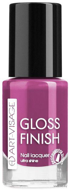 """Лак для ногтей """"Gloss Finish"""" тон: 126, фиалковый — фото, картинка"""