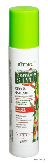 "Спрей-фиксин для укладки волос ""Bamboo style"" сильной фиксации (215 мл) — фото, картинка"