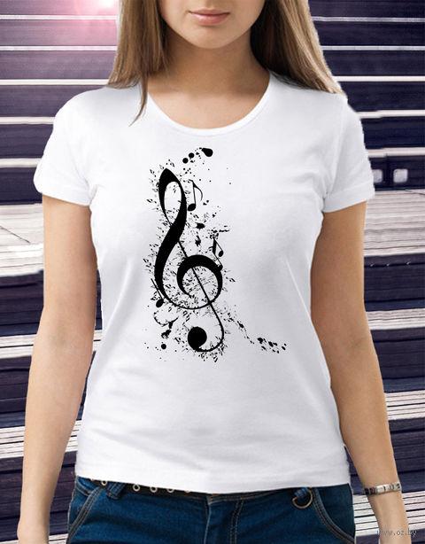 "Футболка женская ""Music"" (размер 48; арт. 4) — фото, картинка"