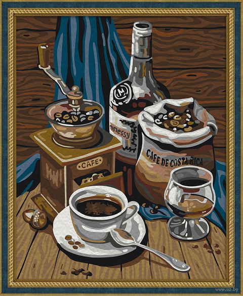 "Картина по номерам ""Кофейный набор"" (400х500 мм) — фото, картинка"
